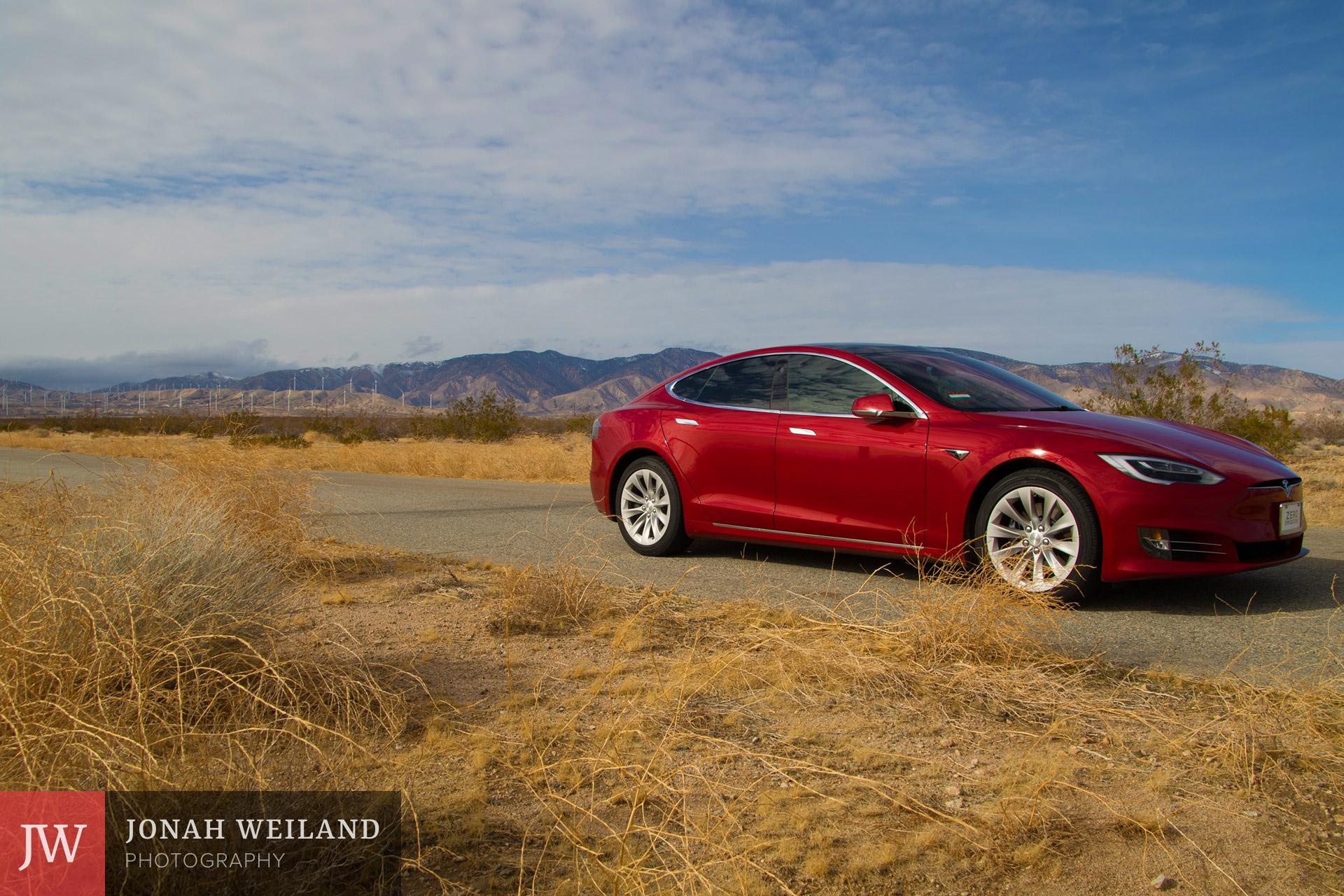 Tesla Model S in Mojave, CA